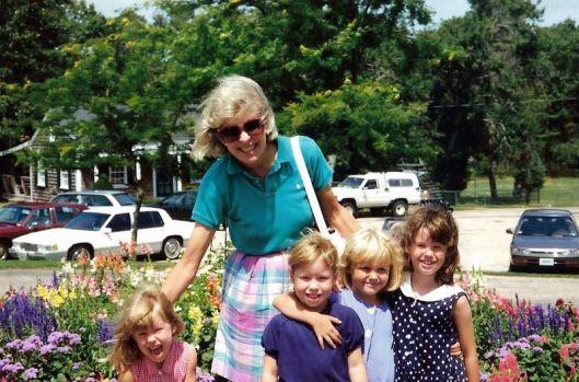 Becky, Tory, Amanda and Abby with Grandma Nance (1994)