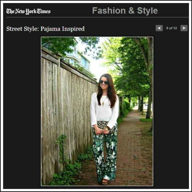NYT street style blog