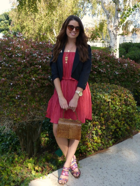 navy red fall floral, style blogger, #ootd